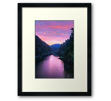 Sunset at Cataract Gorge-ous Framed Print