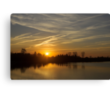 Cool Contrails and Sunshine Canvas Print