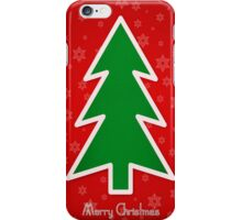 Merry Christmas Tree With Snowflake Background iPhone Case/Skin