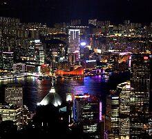 Night on the City V - Hong Kong. by Tiffany Lenoir