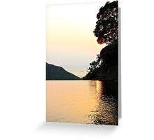 Falling Sun on Natural Pool II - Hong Kong. Greeting Card