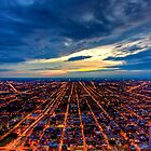 Looking West from Sears Tower. by delobbo