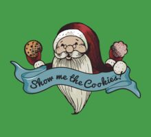 Santa show me the cookies funny Christmas t-shirt by BigMRanch