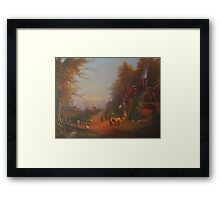 At The Sign Of The Prancing Pony.(An Encounter With Strider.) Framed Print
