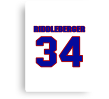 National baseball player Denny Riddleberger jersey 34 Canvas Print
