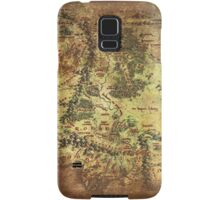 Distressed Maps: Lord of the Rings Middle Earth Samsung Galaxy Case/Skin