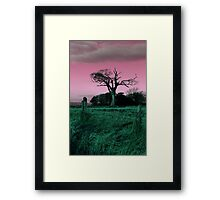 The Rihanna Tree, Playing With Pink! Framed Print