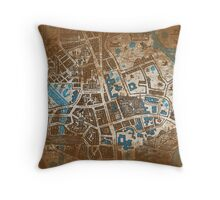 Distressed Maps: His Dark Materials Lyra's Oxford Throw Pillow