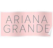 Ariana Grande Logo (Yours Truly Era) Poster