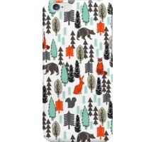 Christmas Forest Animals Pattern by Andrea Lauren iPhone Case/Skin