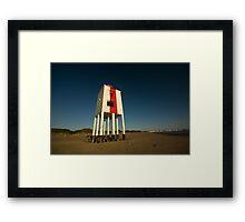 Burnham-on-sea lighthouse. Framed Print