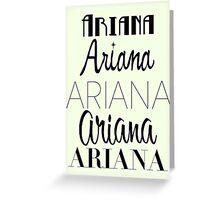 Ariana Grande - Era Logos Greeting Card