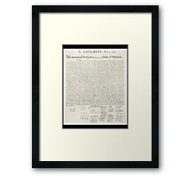 Declaration of Independence, United States of America, USA Framed Print