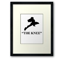 "Captain Falcon ""The Knee"" Framed Print"