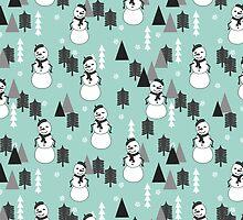 Christmas Snowman - Mint by Andrea Lauren by Andrea Lauren
