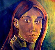 Acrylic Self Portrait by hatefueled