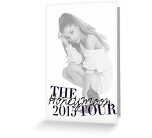 The Honeymoon Tour 2015 (Shade White Only) Greeting Card