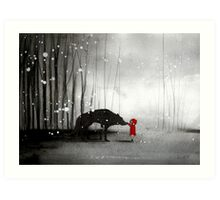 Little Red Riding Hood - The First Touch Art Print