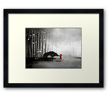 Little Red Riding Hood - The First Touch Framed Print