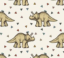 Triceratops & Triangles by micklyn