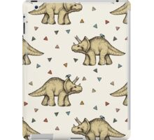 Triceratops & Triangles iPad Case/Skin