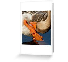 Upside Down Goose Greeting Card