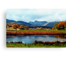River Brathay and the Langdale Pikes Canvas Print