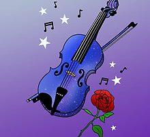 Blue Violin by Aimee Miller