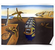 The persistence of Banana - Salvador Dali minion Poster