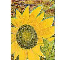 Oil Sun 1 Yellow Photographic Print