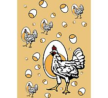 Retro Roseanne Chickens Photographic Print