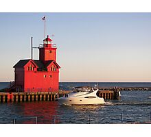"""Cruisin' By """"Big Red"""" Photographic Print"""