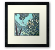 And the Crane's Flew to the Western World Framed Print
