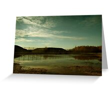 Reflections at the Missile Silos - Greenham Common Greeting Card