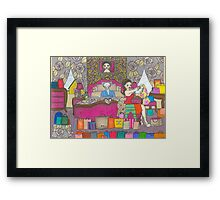 The Gold-Digging Desperate Housewife Framed Print