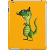 Sir T-rex with Fancy Mustaches iPad Case/Skin
