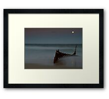 Yellow Moon Dicky Beach Framed Print