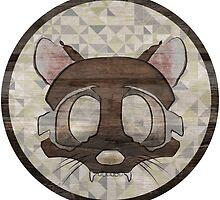 Textured Racoon Character by PhoebeMDesign