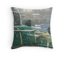 Lobster Pots Throw Pillow
