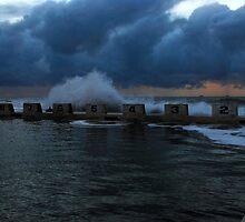 Merewether Baths at Sunrise by Paul Lamble