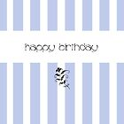 Blue Candy Stripes Birthday by mrana