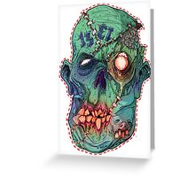 Trick-or-Treating 1313 Rotted Face Greeting Card