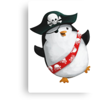 Cute Pirate Penguin Canvas Print
