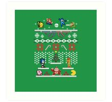 A Super Smash 8-Bit Christmas Art Print