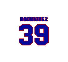 National baseball player Guillermo Rodriguez jersey 39 Photographic Print