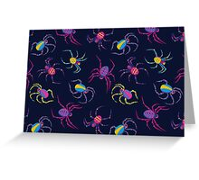 Cute Spider PATTERN  Greeting Card
