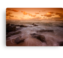 Bar Beach at Dusk 7 Canvas Print