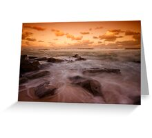 Bar Beach at Dusk 7 Greeting Card
