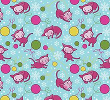 Christmas Kitties Pattern and another Spasial CAT with the Christmas tree. by Kimazo