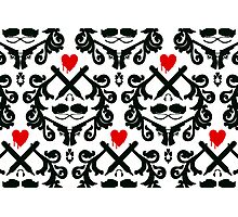 Love Retro Wallpaper Photographic Print